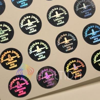 Vienetiniai holograminiai ženklai / Unique holographic labels